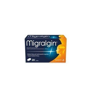 MIGRALGIN 250MG/250MG/50MG neobalené tablety 20(2X10) I