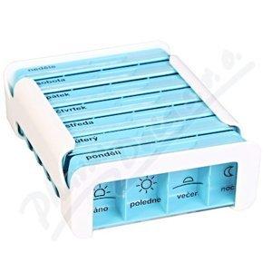 Dávkovač na léky - modrý ANABOX 7 dní COMPACT
