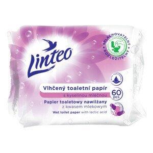Vlhčený toaletní papír LINTEO s kys. mléčnou 60ks