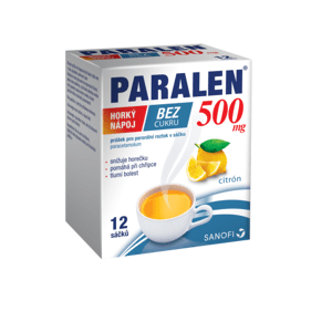 PARALEN HORKÝ NÁPOJ BEZ CUKRU 500MG perorální PLV SOL SCC 12
