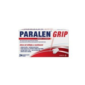 PARALEN GRIP CHŘIPKA A BOLEST 500MG/25MG/5MG potahované tablety 24 I