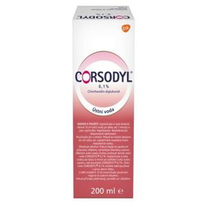 Corsodyl ústní voda 0.1% 200ml - II. jakost