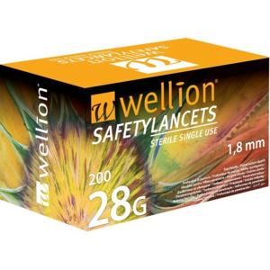 Wellion Safety Lancets jehly jednorázové 28G 200ks - II. jakost
