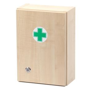 Lékárnička - dřevěná s náplní do 5 osob-ZM 05 - II. jakost