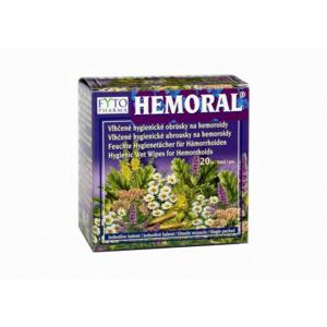Hemoral vlhčené hyg. ubrousky na hemoroidy 20ks - II. jakost
