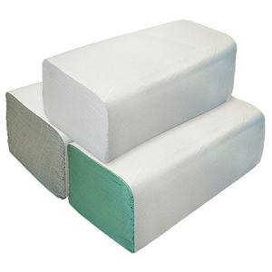 Papírové ručníky skládané ZZ 1vrstvé bílé 2x250ks - II. jakost