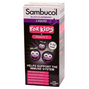 SAMBUCOL Pro Děti + vitamin C Sirup 120 ml - II. jakost