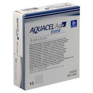AQUACEL AG+ EXTRA 5X5 CM, KRYTÍ S TECHNOLOGIÍ HYDROFIBER A SE STŘÍBR - II. jakost