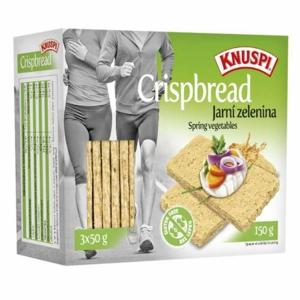 Knuspi Crispbread jarní zelenina 150g - II. jakost