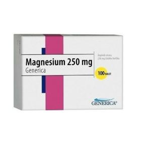 Magnesium 250 Generica tbl. 100 - II. jakost