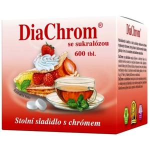 DiaChrom se sukralózou tbl.600 nízkokalor.sladidlo - II. jakost