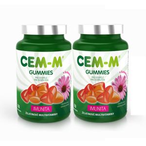 CEM-M gummies Imunita tbl.60+60 AKCE 100 Kč sleva - II. jakost