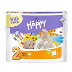 Happy Mini dětské pleny 78ks - II. jakost