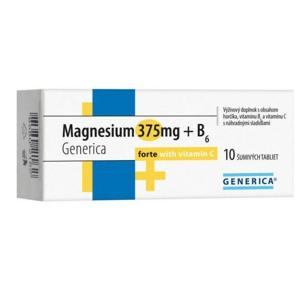 Magnesium 375mg+B6 forte Generica+Vit.C eff.tbl.10 - II. jakost