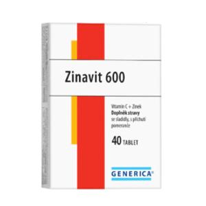 Zinavit 600 cucavé tablety 40 ks Generica - II. jakost
