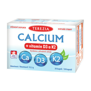 TEREZIA Calcium+vitamin D3 a K2 cps.30 - II. jakost