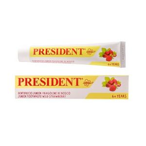 PresiDENT Zubní pasta gel děti 6+ let Jahoda 50ml - II. jakost