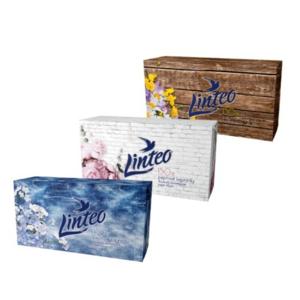 Papírové kapesníky LINTEO 2-vrstvé bílé 150ks - II. jakost