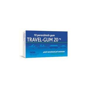 TRAVEL GUM 20MG léčivé žvýkací gumy 10