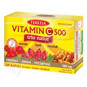 TEREZIA Vitamin C 500mg TRIO NATUR cps.60 - II. jakost