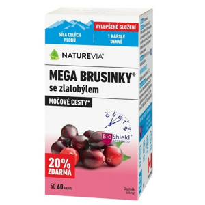 Swiss NatureVia Mega brusinky cps.60 - II. jakost