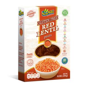 Luštěnin. těstoviny z červené čočky 250g - Vřetena - II. jakost