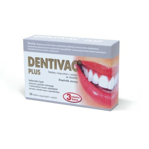 DENTIVAC PLUS 30 rozpustných tablet - II. jakost