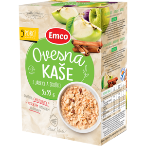 EMCO Ovesná kaše s jablky a skořicí 5x55g - II. jakost