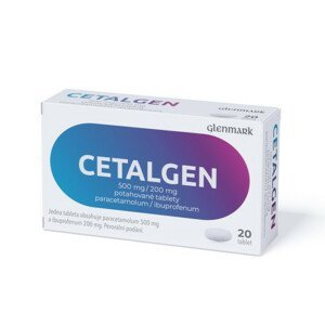 CETALGEN 500MG/200MG potahované tablety 20 II