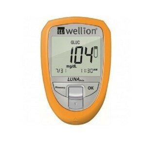 Glukometr Wellion LUNA TRIO set - žlutý