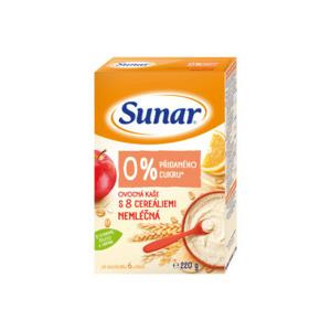 Sunar nemléčná ovocná kaše s 8 cereáliemi 220g - II. jakost
