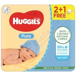 HUGGIES Pure Triplo 3x56ks