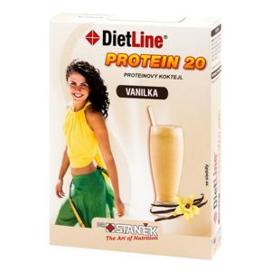 DietLine Protein 20 Koktejl Vanilka 3 sáčky - II. jakost