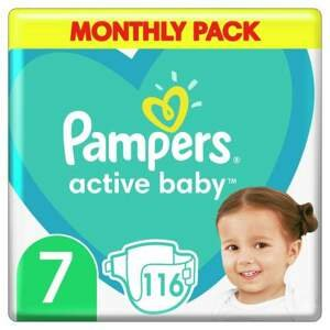 Pampers Active Baby Pleny Monthy Box S7 15+ kg 116ks