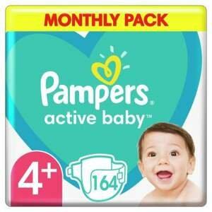 Pampers Active Baby Pleny S4+ 164ks