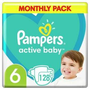 Pampers Active Baby Pleny 6 11-18kg 128 ks