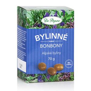 Dr.Popov Bonbony Alpské byliny 70g - II. jakost
