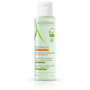 A-Derma Exomega Control Zvláčňující mycí gel 500ml pro suchou kůži se sklonem k atopii 2v1 - II. jakost