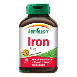 JAMIESON Železo 35 mg s postupným uvolňov.tbl.60 - II. jakost
