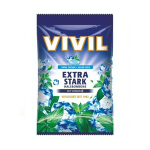 Vivil Extra silný mentol+vit.C bez cukru 80g - II. jakost