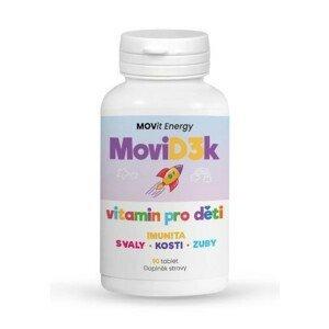 MoviD3k - vitamin D3 pro děti, 800 I.U. 90 tablet s příchutí pomeranče