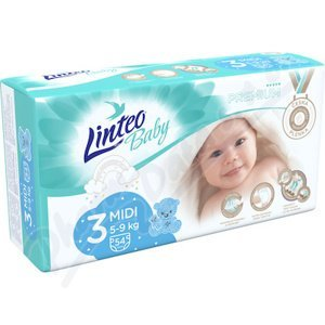 Dětské plenky LINTEO BABY PREMIUM MIDI 5-9kg 54ks