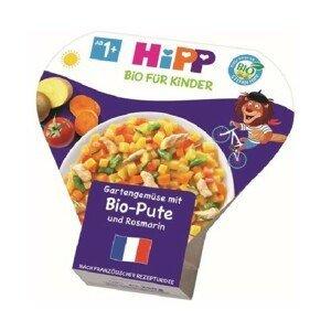 HiPP Dětské Těstoviny BIO Zelenina s krůtím masem 250g