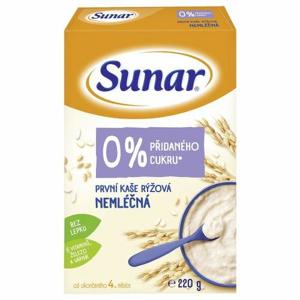 Sunar První kaše rýžová nemléčná 220 g - II. jakost