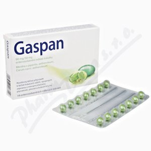 GASPAN 90MG/50MG enterosolventní měkké tobolky 14