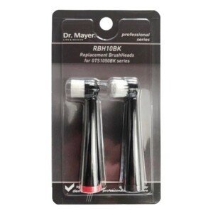 Dr.Mayer RBH10BK Náhradní hlavice pro zubní kartáček GTS1050 černá 2ks