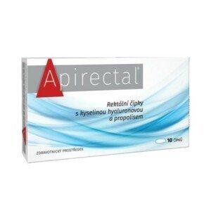 Apirectal Rektální čípky s kyselinou hyaluronovou a propolisem 10ks