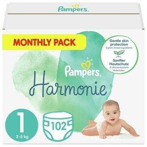 Pampers Harmonie 1 Plenky 2-5 kg 102 ks