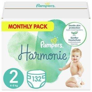 Pampers Harmonie 2 Plenky 4-8 kg 132 ks