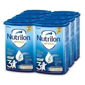 Nutrilon Advanced 3 Vanilla 800g - balení 6 ks